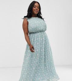 Платье макси без рукавов с цветочным принтом Unique21 - Hero - Синий