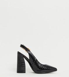 Черные туфли на каблуке для широкой стопы RAID Lauryn - Черный