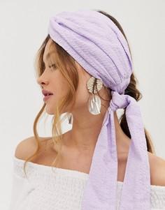 Повязка на голову с узлом спереди ASOS DESIGN - Фиолетовый
