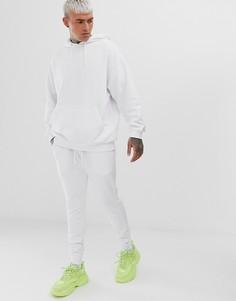 Белый спортивный oversize-костюм с худи ASOS DESIGN - Белый