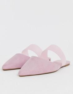 Сиреневые балетки из гибкого пластика ASOS DESIGN Liquid - Фиолетовый