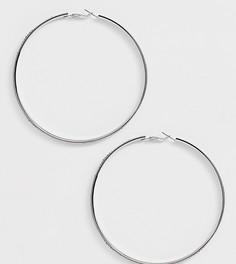 Серебристые серьги с подвеской-кольцом и стразами Missguided - Серебряный