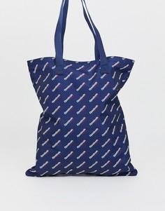Темно-синяя сумка-тоут с логотипом Reebok - Темно-синий