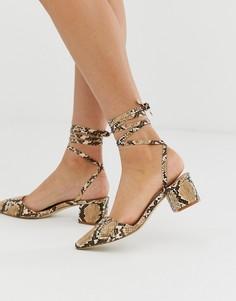Туфли на среднем каблуке с эффектом змеиной кожи RAID - Arve - Мульти