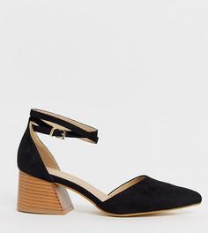 Черные замшевые туфли на среднем каблуке RAID Wide Fit - Ramira - Черный