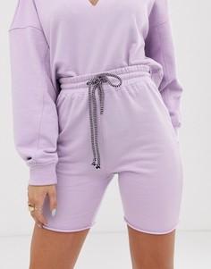 Трикотажные шорты от комплекта Public Desire X Lissy - Roddy - Фиолетовый