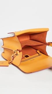 MCM Patricia Visetos Block Small Shoulder Bag