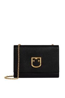 Черная кожаная сумка Viva Furla