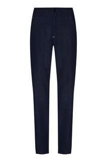 Темно-синие прямые классические джинсы Fendi