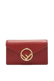 Красная поясная сумка Fendi