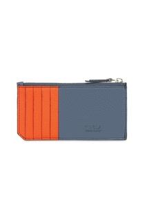 Оранжево-серая кредитница Man Delfi Furla