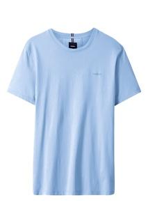 Светло-голубая прямая футболка Strellson