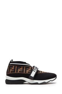 Текстильные кроссовки с монограммами Fendi