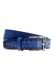 Ремень ярко-синего цвета Moreschi