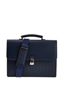 Кожаный портфель с эффектом плетения Moreschi