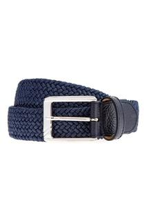 Плетеный ремень синего цвета Moreschi