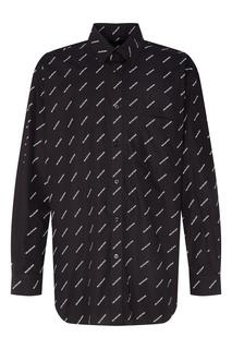 Черная сорочка с логотипами Balenciaga Man