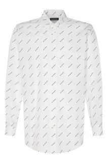 Белая сорочка с логотипами Balenciaga Man