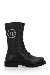 Высокие ботинки из каучука Philipp Plein