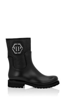 Высокие ботинки из кожи и каучука Philipp Plein