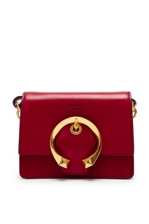 Красная мини-сумка с золотистой пряжкой Madeline Jimmy Choo