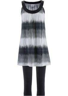 Платье мини + леггинсы капри Bonprix