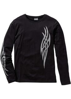 Облегающая футболка с длинным рукавом Bonprix