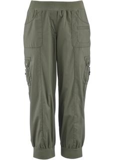 Эластичные брюки карго длиной 3/4 Bonprix
