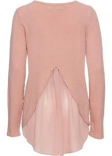 Пуловер с вставкой в виде блузки Bonprix