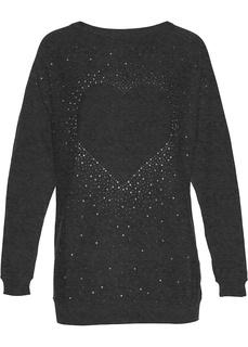 Удлиненный пуловер со стразами Bonprix