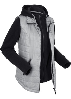 Жилетка с интегрированной флисовой курткой Bonprix
