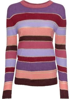 Пуловер вязаный в полоску Bonprix