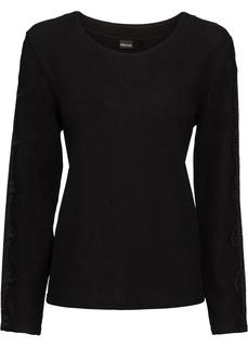 Пуловер с кружевными деталями Bonprix