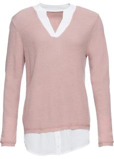 Пуловер с блузочной вставкой Bonprix