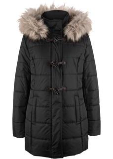 Куртка с капюшоном и продолговатыми пуговицами, стеганый дизайн Bonprix