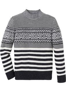 Пуловер Regular Fit с узором Bonprix
