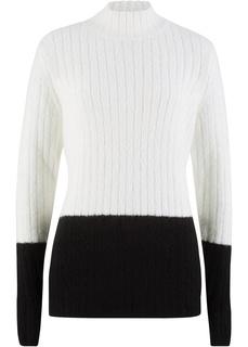 Пуловер с воротником-стойкой Bonprix