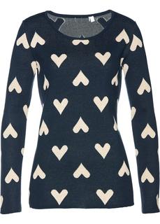 Пуловер с сердечками Bonprix
