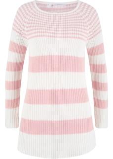Пуловер полосатый с вырезом-лодочкой Bonprix