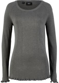 Пуловер с рюшами Bonprix