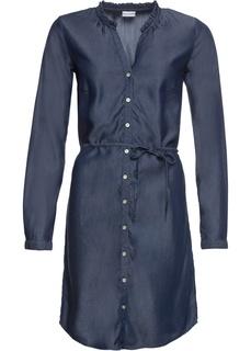 Платье-рубашка из денима Bonprix