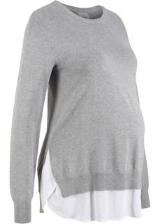 Пуловер 2 в 1 для беременных, длинный рукав Bonprix