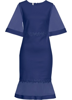 Платье с кружевом и вставками из сеточки Bonprix