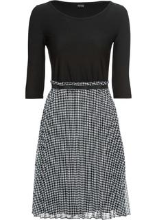 Платье с плиссированными складками Bonprix