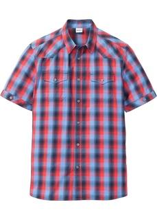 Рубашка с коротким рукавом и накладными карманами Bonprix