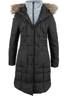 Пальто стеганое, имитация 2 в 1 Bonprix