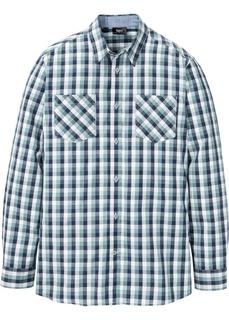 Рубашка клетчатая с длинным рукавом Bonprix
