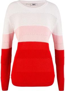 Пуловер в структурном дизайне Bonprix