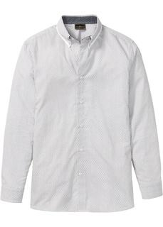 Рубашка с длинным рукавом и минималистичным принтом Bonprix