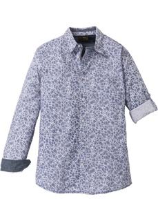 Рубашка с длинным рукавом и узором Bonprix